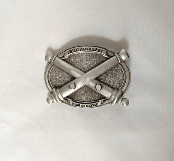 Pewter Crossed Cannons Belt Buckle