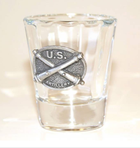 Crossed Cannon Pewter Shot Glass