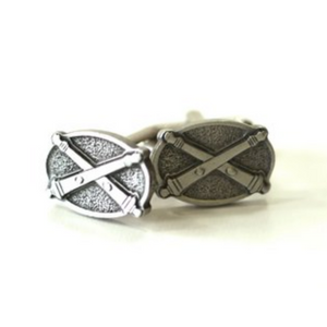 Pewter Crossed Cannons Cufflinks