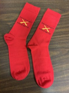 Red Party with Arty Saint Barbara Socks