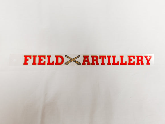 Field Artillery Window Decal Strip