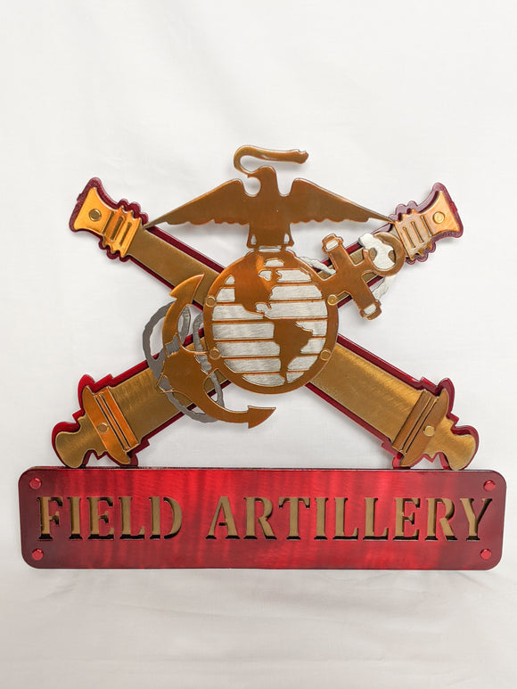 Metal EGA CC Hanging Sign with Deluxe 3-D Name Plate & 3D Cannons (Customizable)