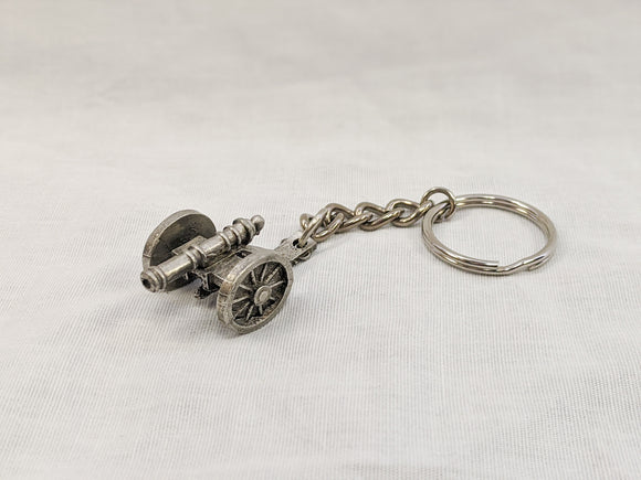 Pewter Key Chain - Field Cannon
