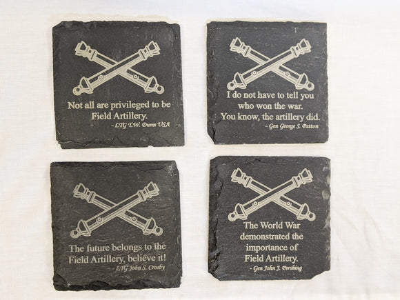 Slate Coasters with FA Quotes - Set of 4