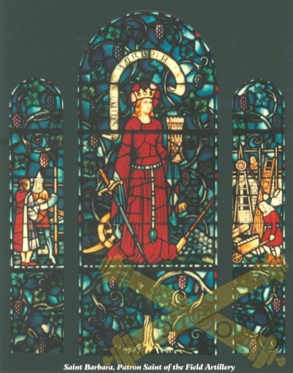 Saint Barbara Stained Glass Print 11x14