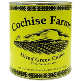 Canned Diced Green Chiles 27oz (Cochise Farms)