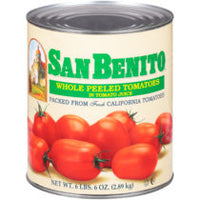 Canned Whole Peeled Tomatoes in Juice 6lbs (San Benito)