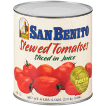 Canned Sliced Stewed Tomato In Juice 6lbs (San Benito)
