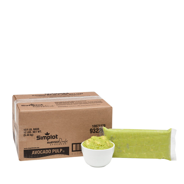 Frozen Avocado Pulp 1lbs Bag (Simplot)