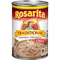 Canned Re-Fried Traditional Beans 16oz (Rosarita)