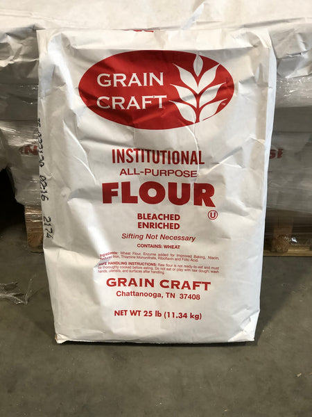 All Purpose Flour Bleached 25lbs Bag (Grain Craft)