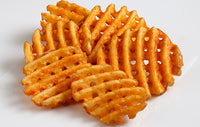 Frozen Waffle Fries Seasoned French Fries 4.5lbs Bag D23 (Lamb Weston)