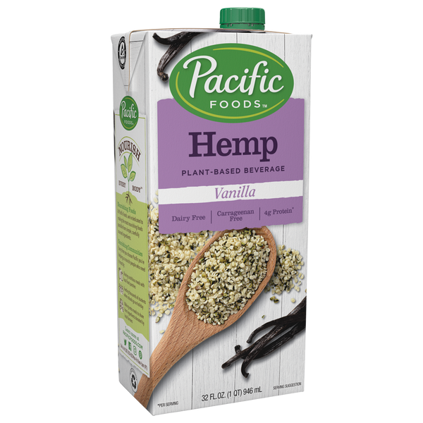 Vanilla Hemp Milk 32oz (Pacific Naturals)