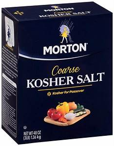 Spice Salt Morton's Coarse Kosher Salt 3 lbs