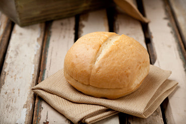 "Frozen Tuscan Hamburger Bun 4.5"" 6ct Bag (Stone Ground Bakery)"