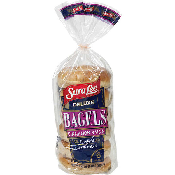 Frozen Bagels Cinnamon Raisin 6ct Sleeve (Sara Lee)