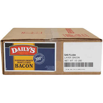 Frozen Bacon Hardwood Smoked/Honey Cured Thick 15lbs Box (Daily's)
