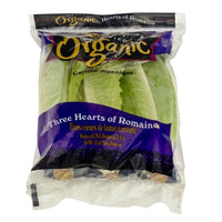 Fresh Organic Lettuce Romaine Hearts 3ct Bag