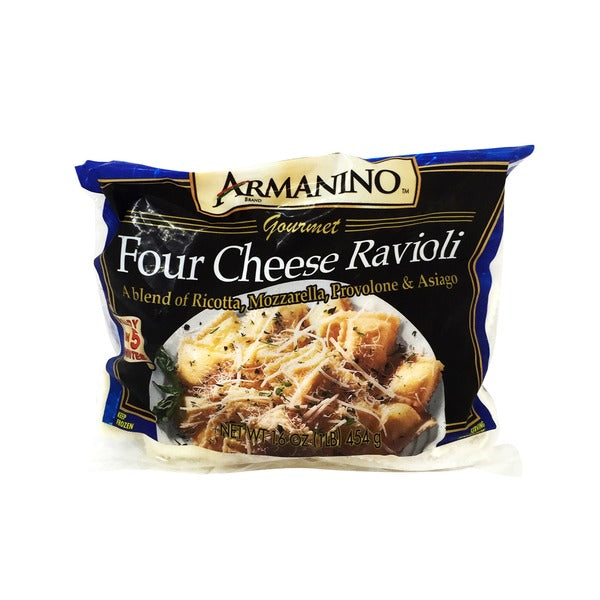 Frozen Ravioli 4 Cheese 1lbs Bag (Armanino)