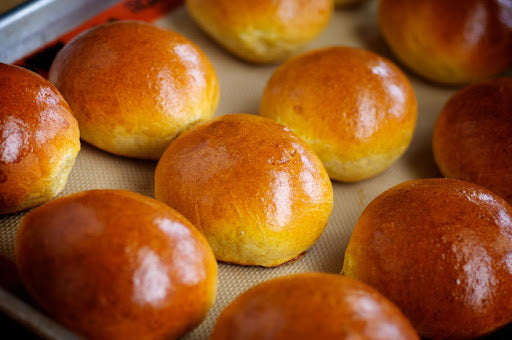 Frozen Brioche Hamburger Buns 12ct Bag (Stone Ground Bakery)