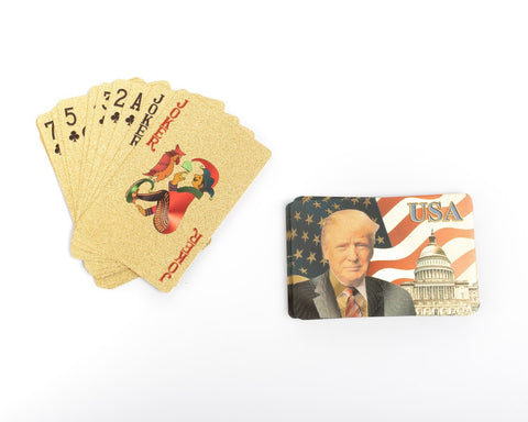 Trump Playing Cards, Gold Foil