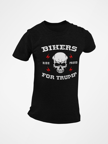 Bikers for Trump Skull Tee