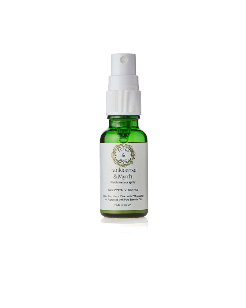 Frankincense & Myrrh Hand Hand Sanitiser Spray (20ml) - Purdy & Figg