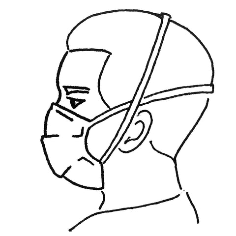 Mask with Elastic Headstraps