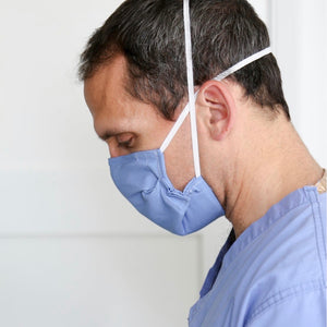 Doctor Wearing Face Mask with 5 Micron Felt Filter