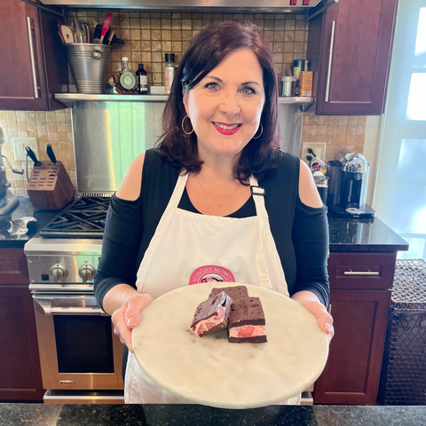 Cindy from Hungry Monkey Baking in her kitchen