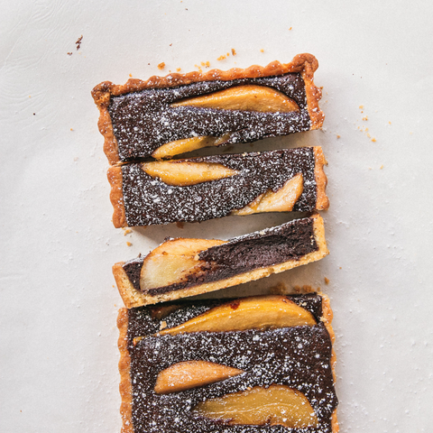 Chocolate Pear Tart From The Brick Kitchen