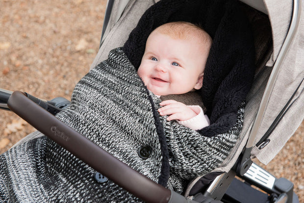 The Cocoon baby blanket in Jet Black