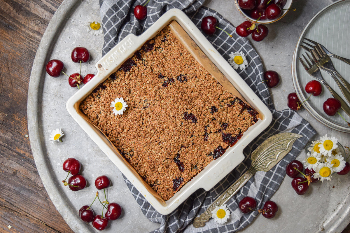 B.C. Cherry Crumble Bars