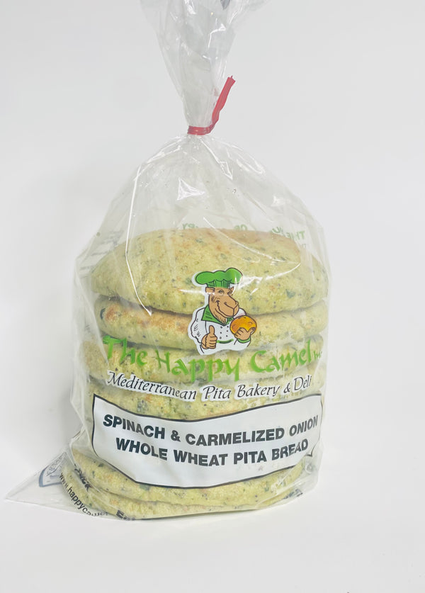 Happy Camel Spinach & Caramelized Onion Whole Wheat Bread