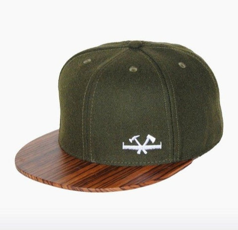 Zebranohouten Snapback Cap - pet - Screw - Mosgroen - Uniek Nederlands design