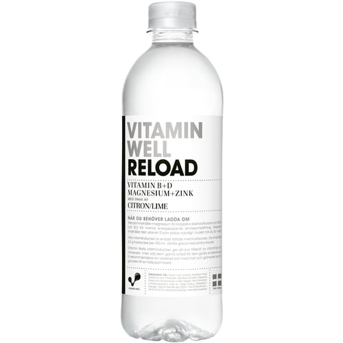 Vitamin well reload citron/lime (flaska 50 cl)