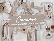 Load image into Gallery viewer, 6 Cinnamon Collection Presets | Lightroom Presets