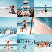 Load image into Gallery viewer, BEACH LIGHTROOM PRESETS - PresetsbyFaye