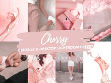 Load image into Gallery viewer, CHERRY LIGHTROOM PRESETS - PresetsbyFaye