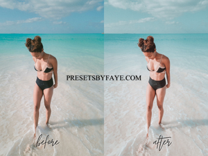 BEACH LIGHTROOM PRESETS - PresetsbyFaye