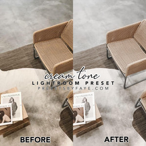 CREAM TONE LIGHTROOM PRESETS - PresetsbyFaye