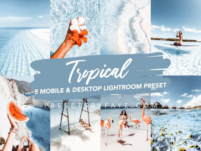 TROPICAL LIGHTROOM PRESETS - PresetsbyFaye