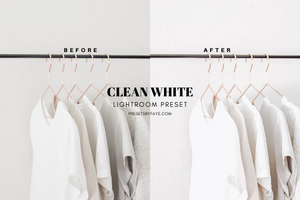 10 Clean White Presets | Lightroom Presets
