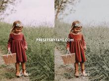Load image into Gallery viewer, KIDS IN FIELD LIGHTROOM PRESETS - PresetsbyFaye