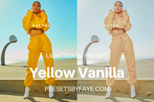 Load image into Gallery viewer, YELLOW TONE LIGHTROOM PRESETS - PresetsbyFaye