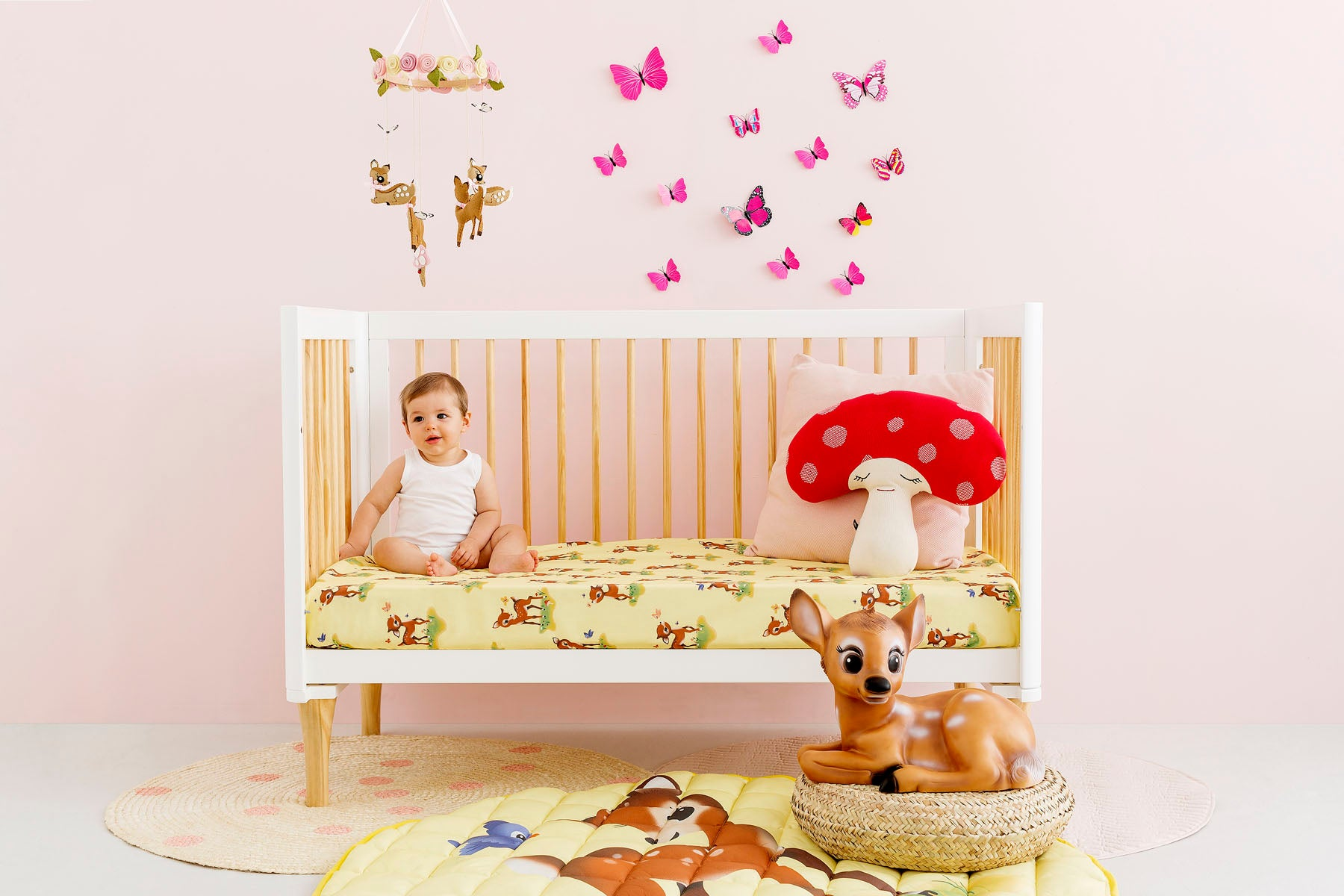 Bambi Cot Fitted Sheet