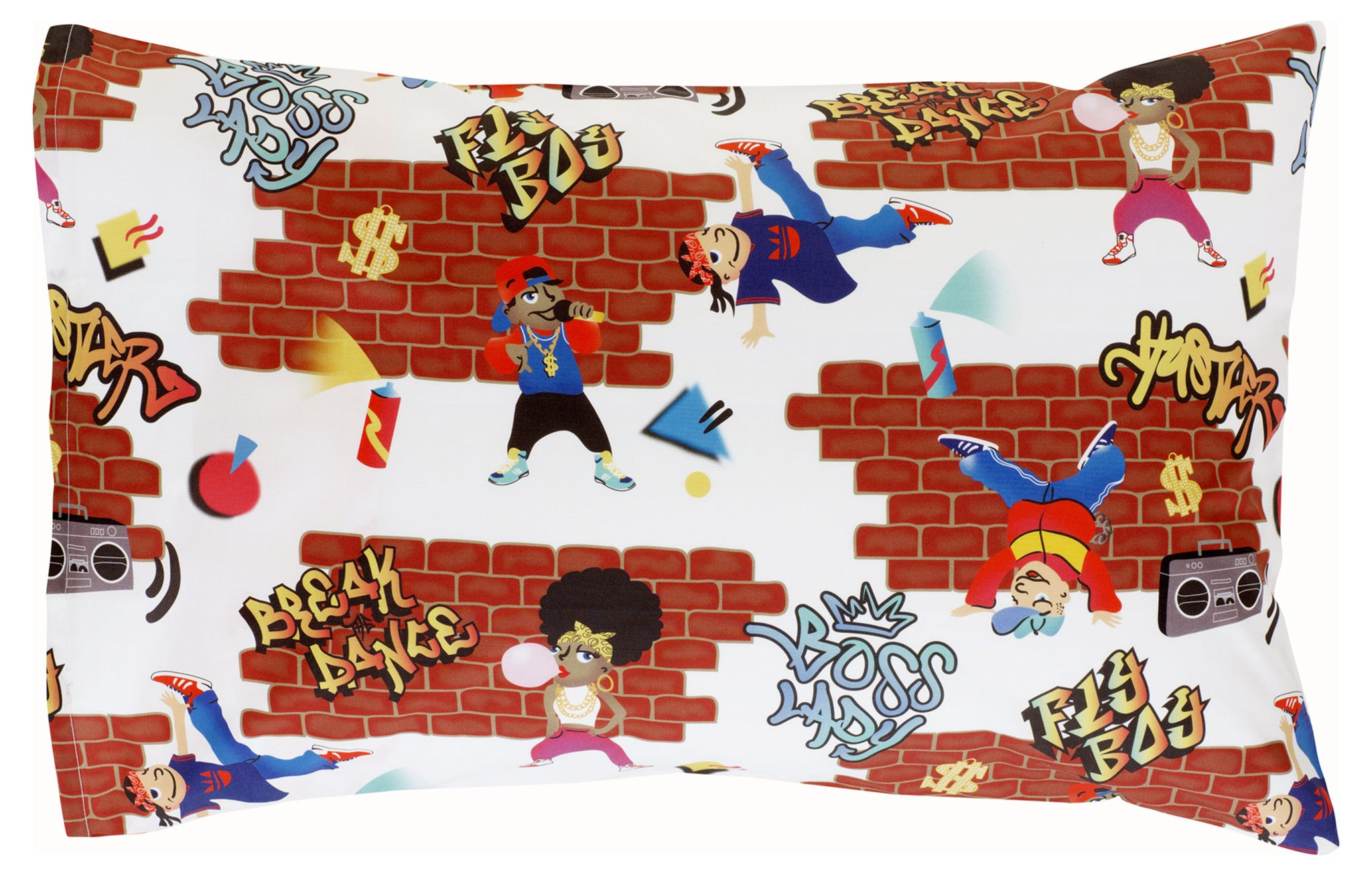 Boom Box Reversible Pillowcase