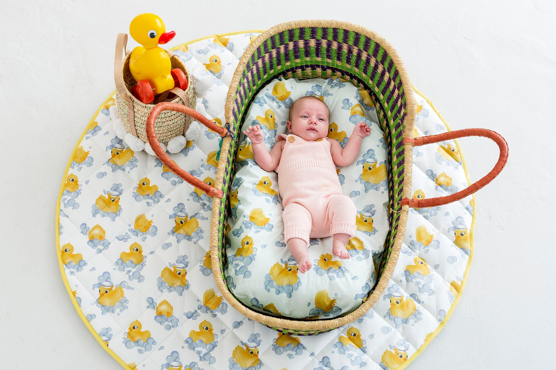 Rubber Ducky Bassinet Fitted Sheet