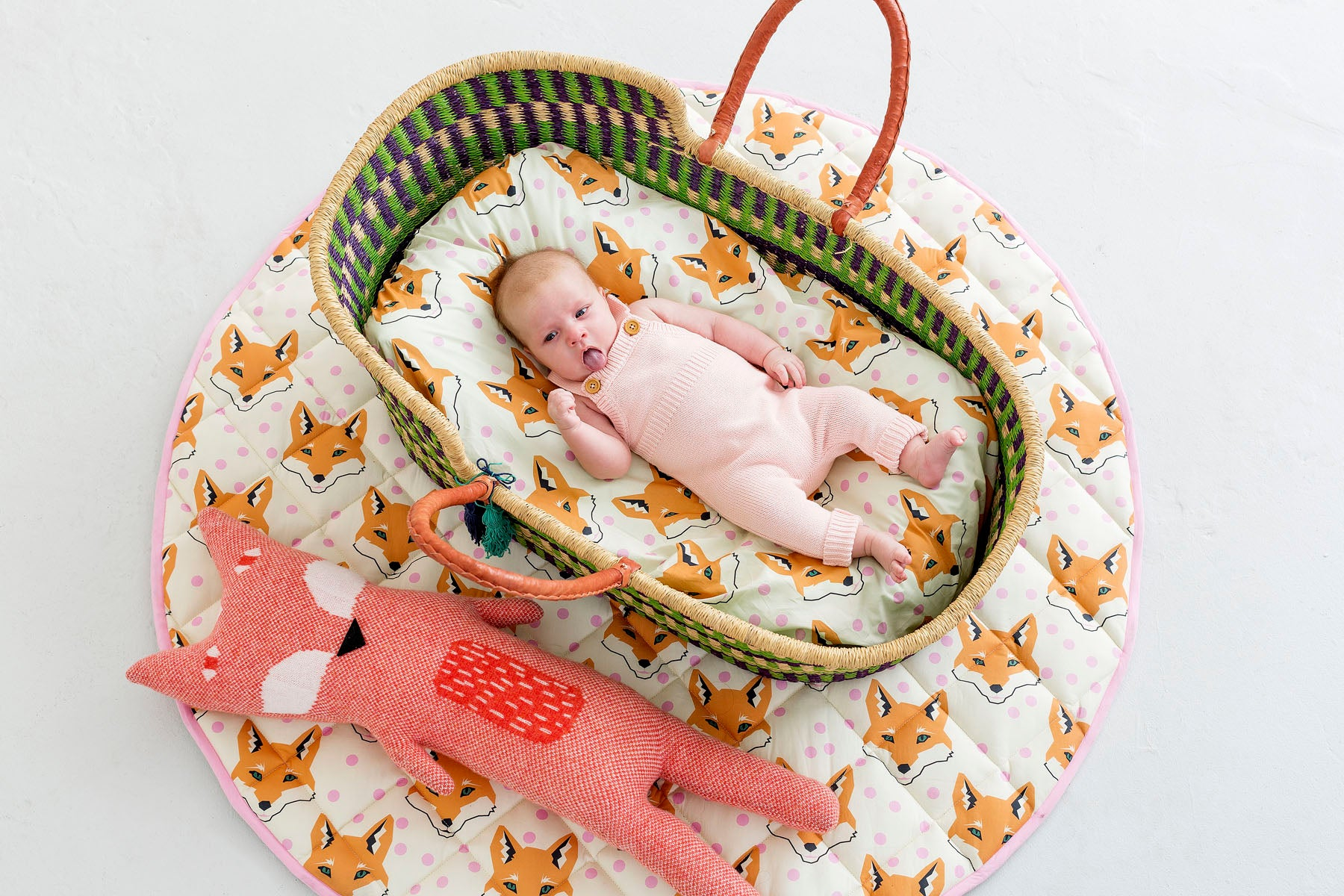 Fox Bassinet Fitted Sheet