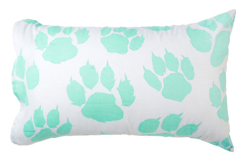 Mint Paw Pillowcase